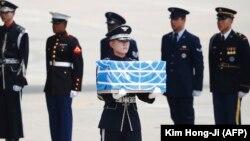 На базе Осан встречают останки американских военных. 27 июля 2018 года