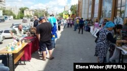 Благотворительная ярмарка на мини-Арбате в Темиртау.