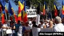 Учасники протесту в Кишиневі, 17 вересня 2017 року