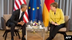 Обама жана Меркел. Ганновер, 24-апрель, 2016-жыл.