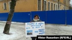 Пикет в Петербурге, 12 февраля 2015