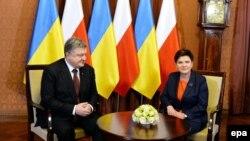 Петро Порошенко і Беата Шидло, Варшава, 2 грудня 2016 року