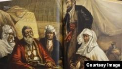 Эта работа британского путешественника Томаса Аткинсона изображает султана Суюка с семьей.