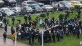 Belarus - Anti-Lukashenka's protest 'March against fascism' in Minsk, 22nov2020
