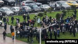 دستگیری معترضان از سوی پولیس در مینسک پایتخت بلاروس. 22nov2020