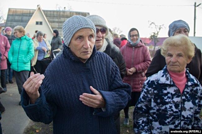 Большая часть протестующих - пенсионеры