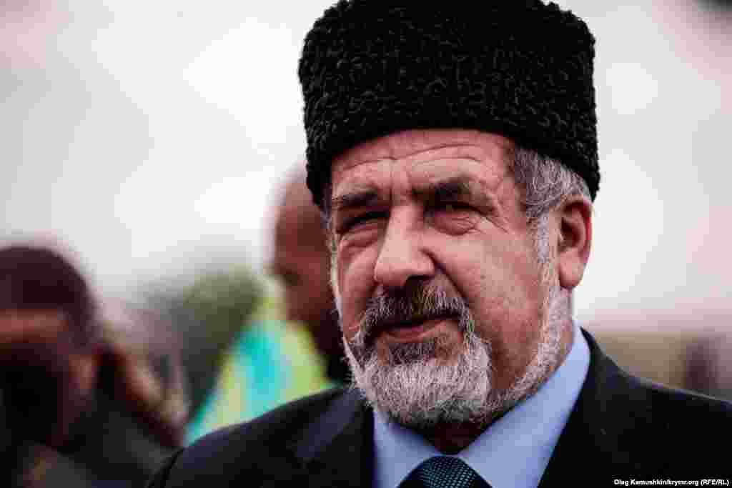Head of Mejlis Refat Chubarov at the memorial meeting in 18 May
