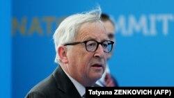 Глава Европейской комиссии Жан-Клод Юнкер на саммите НАТО, 12 июля 2018 года.
