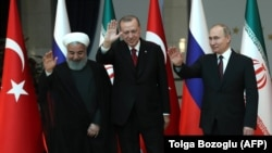 Hassan Rohani, Recep Tayyip Erdogan dhe Vladimir Putin