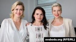 Вероника Цепкало, Светлана Тихановская жана Мария Колесникова. Минск, 20-июль, 2020-жыл.