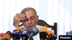 Armenia -- Head of the Armenian Police Alik Sargsian at a press conference, 21 August, 2009