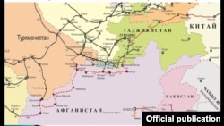 Кытай - Кыргызстан - Тажикстан - Ооганстан - Иран темир жол долбоору.