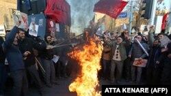 Протесты в Тегеране, январь 2020 года