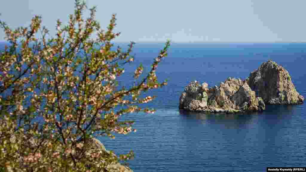 Адалары упобережья Гурзуфа. На этих скалистых островах находятся колонии бакланов