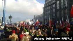 Польша экс-президенті ЛехВаленсаны қолдау шеруі. Варшава, 27 ақпан 2016 жыл.