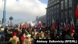 Protesta në mbështetje të ish-presidentit Walesa në Varshavë