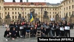 Акція українських студентів у центрі Праги, 11 квітня 2019 року