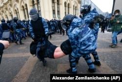 Задержания в Москве. 31 января 2021 года