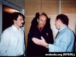 Лявонці Зданевіч, Зянон Пазьняк, Уладзімер Новік. 1992 г.