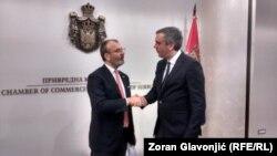 Sem Fabrici, šef Delegacije EU u Beogradu i Marko Čadež, predsednik Privredne komore Srbije