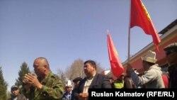 Ақсыдағы митинг. Қырғызстан, 22 наурыз 2016 жыл.