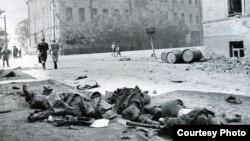 Забітыя нямецкія салдаты ўМагілёве