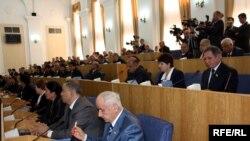 Tajikistan - Fisrt session of Tajik parliament, Dushanbe, 16Mar2010