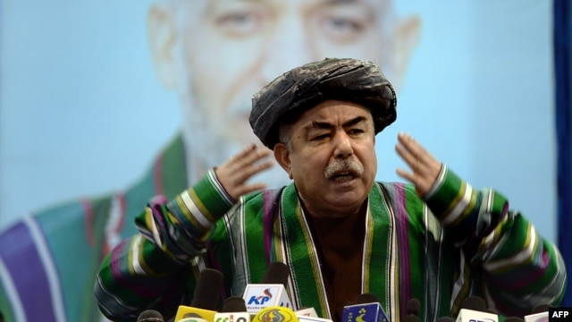 "Vice-presidential candidate General Abdul Rashid Dostum: ""We will accept death but not defeat,"""