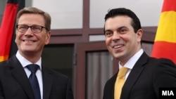 Министерот за надворешни работи Никола Попоски со неговиот германски колега Гидо Вестервеле