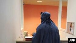 Французская мусульманка в традиционной одежде