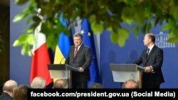 Президент України Петро Порошенко під час візиту до Мальти. 16 травня 2017 року