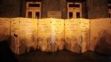 Під час акції з вимогою до президента України Володимира Зеленського не підписувати капітуляційних угод із Росією, й не погоджуватися на так звану «формулу Штайнмаєра». Київ, 19 вересня 2019 року