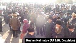 Токтогулдагы митинг, 5-февраль, 2015.