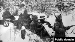 Бойцы Чехословацкого корпуса в снегах Сибири, 1918 год