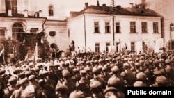 Палявая імша для польскіх жаўнераў у Менску, 1919