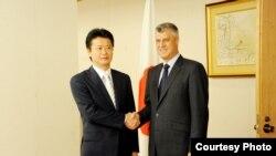 Ministri i Jashtëm i Japonisë Koiciro Gemba dhe kryeministri i Kosovës, Hashim Thaçi, Tokio, 7 qershor, 2012