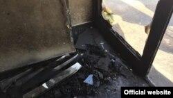 Наслідки підпалу в Дніпрі 11 травня, фотографії «Опозиційного блоку»