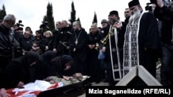 The funeral ceremony for Archil Tatunashvili in Tbilisi on March 24