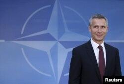 Новий генеральний секретар НАТО Єнс Столтенберґ у штаб-квартирі Альянсу, Брюссель, 1 жовтня 2014 року