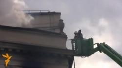 Sarajevo u dimu dan nakon protesta