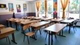 илустрација, празна училница