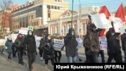 Шествие в Барнауле 29 ноября