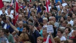 Protests Against Controversial Legislation Continue In Poland