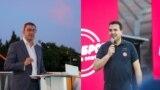 Лидерите на ВМРО-ДПМНЕ и на СДСМ, Христијан Мицкоски и Зоран Заев