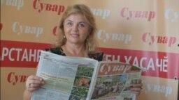 """Галина Гуртнер-Таймасова в редакции газеты """"Сувар"""""""
