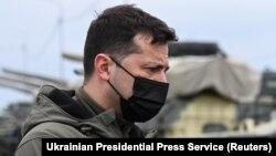 Украина президенти Володимир Зеленский, 2021 йил 27 апрели