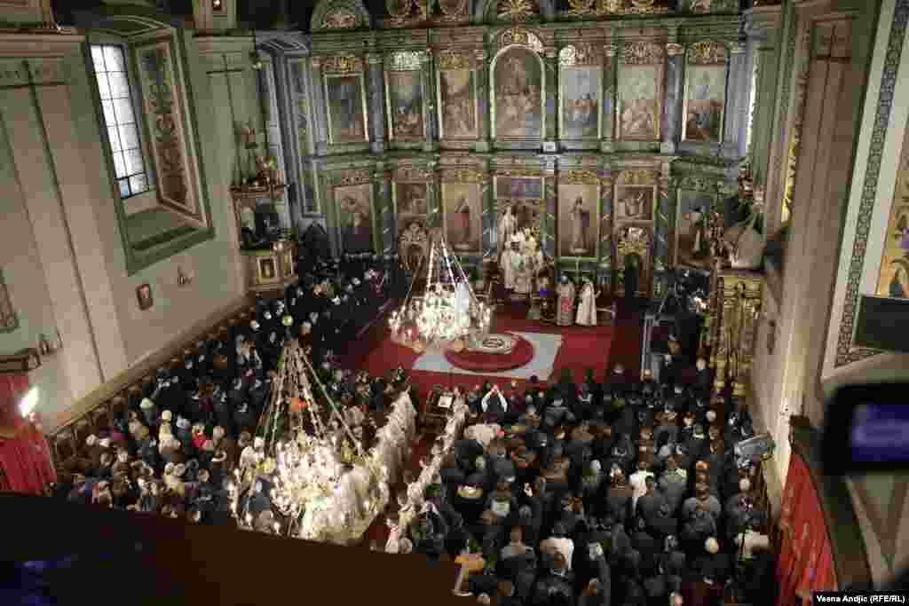Ceremonija ustoličenja 46. patrijarha Srpske pravoslavne crkve u Sabornoj crkvi u centru Beograda.