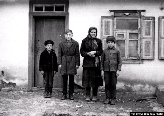 Lytvyn's sister Yaryna, seen here as an adult, survived the Holodomor with the help of her brother.