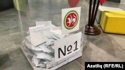 Secție de votare din Kazan, Tatarstan.
