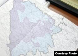 Mapa BiH sa entitetima, foto: sutra.ba